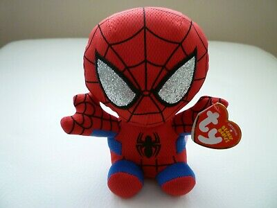 Ty Spiderman Marvel Brand New With Tags Beanie Babies Soft Toy Avengers L@@k • 3.99£