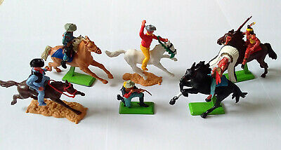 Timpo & Britains Cowboys Wild West Vintage Toy Soldiers 1960s/70s - *GC* PHOTOS • 28.45£