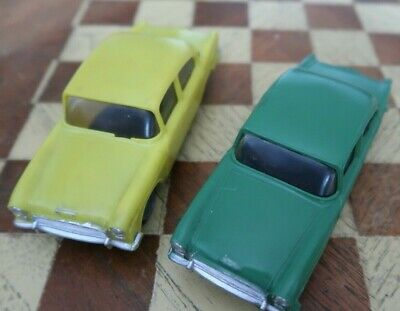 Collectible Vintage 1960's Hong Kong Made Plastic Friction Toy Car X 2 • 10.50£