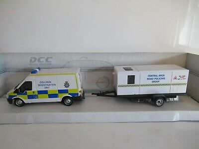 Hongwell/hamleys Ford Transit With Trailer - Police Scale 1:43 • 7.50£