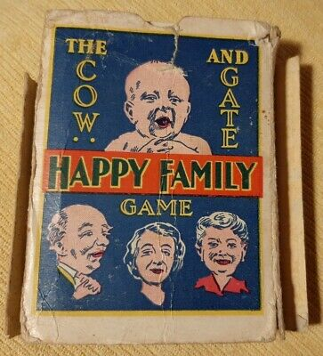Vintage Cow & Gate Happy Family Cards Game 1920's • 22.50£