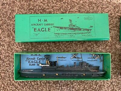 Rare Vintage Crescent Toys HM Aircraft Carrier 'Eagle' (pre-war Issue)  - Boxed • 90£