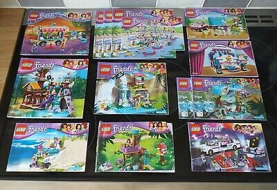 LEGO Friends Heartlake Bundle Of 10 Instructions Manuals Only • 0.99£