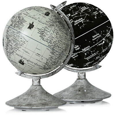 2 In 1 Illuminated World Globe LED Light Up Globe Constellation • 19.99£