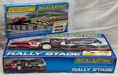 Scalextric Rally Stage C8511 Fiesta Wrc Countryman Wrc . Boxed + Jump Pack C8511 • 49£