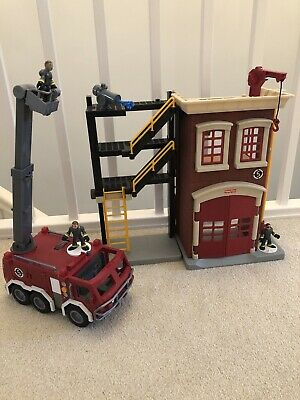 Imaginext Fisher Price Fire Station And Fire Engine • 8£