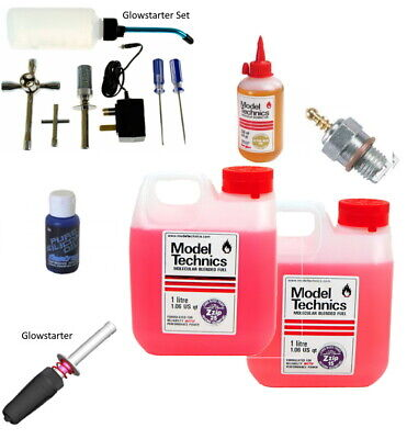 Nitro Accessories: Glowstarter-Glowstarter Kit-Glow Plugs-Filter Oil-Nitro Fuel • 23.75£