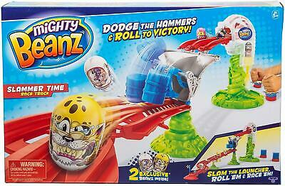 Mighty Beanz Slammer Time Racetrack - Includes 2 Exclusive Beanz Toys • 7.99£