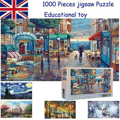1000 Pieces Children Adult Puzzles Educational Toy Decoration Jigsaw Puzzle New • 7.29£