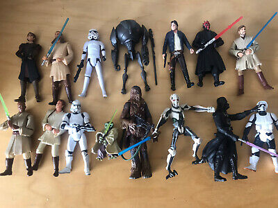 STAR WARS -BUNDLE OF 15 ACTION FIGURES - Used But Good Condition • 12.99£
