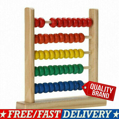 Colorful Wooden Abacus Math Toy Kids Children Number Counting Montessori Toy • 5.25£
