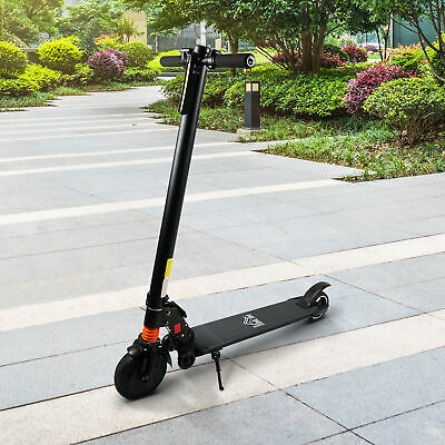 HOMCOM Electric Scooter Folding Adjustable Speed W/ Light Black • 204.99£