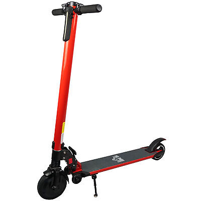 HOMCOM Electric Scooter Folding Adjustable Speed W/ Light Red • 189.99£