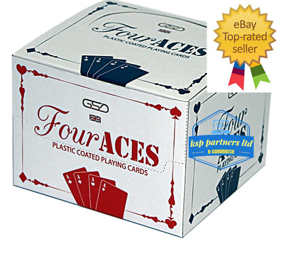 Playing Cards Poker Size Decks Of Professional Plastic Coated Various Colours • 15.99£