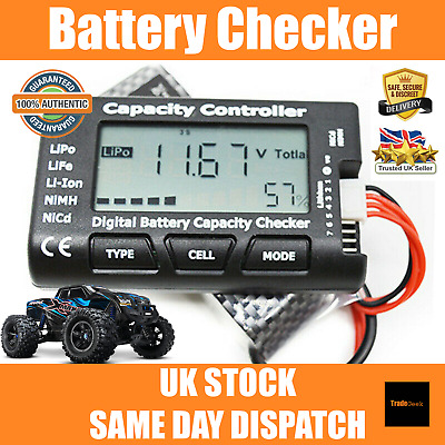 Battery Tester | Cell Capacity Voltage Balance Checker LiPo LiFe Li-ion RC Car   • 9.99£