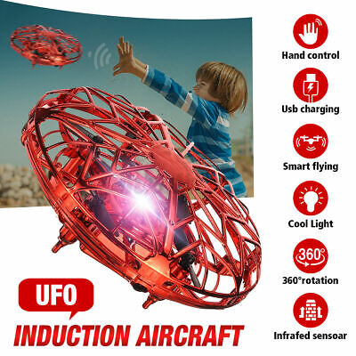 360° Mini Drone Smart UFO Aircraft For Kids Flying Toys RC Hand Control Xmas UK • 8.99£