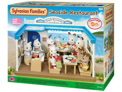NEW! Sylvanian Family Seaside Restaurant Pretend Play Playset 90+ Pcs Collection • 43.85£