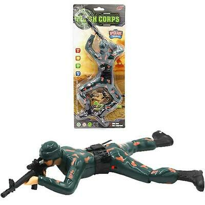Battery-Operated Crawling Soldier 35cm With Light & Sound • 3.99£
