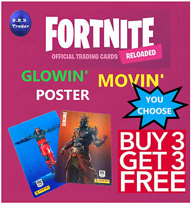 Panini Fortnite Reloaded 2020 Movin' Glowin' Trading Cards 251-315 - You Choose • 1.49£