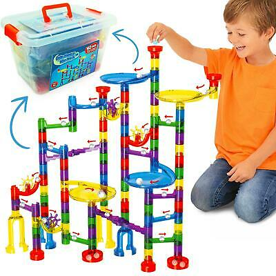Marble Mania 162 Piece Marble Run For Kids - Construction Toy For Boys Or Girls • 21.99£