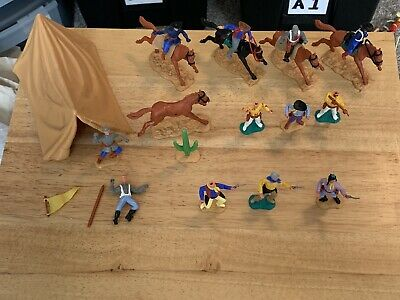 Rare Plastic Timpo Cowboy And Indian Bundle Spares And Repairs With Tent • 33.99£
