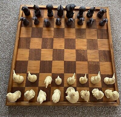Bird Chess Set With Board. Rare And Collectable • 30£