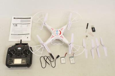 White Drone Working With Camera R/c Radio Control Complete Set S27 • 25£