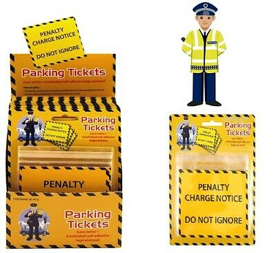 Pack Of 6 Fake PENALTY CHARGE NOTICE Parking Ticket Fine Police Prank Fun Toy  • 1.79£