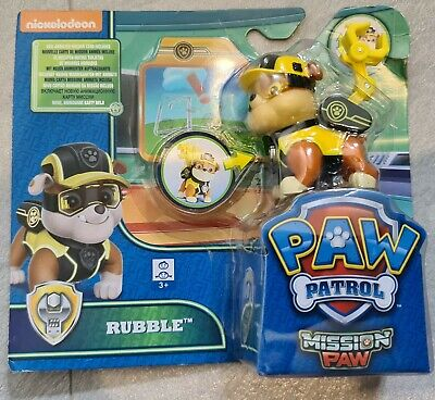 New Paw Patrol Rubble Mission Paw Figure Set Toy Gift Puppy Dog • 7.99£