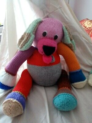 Hand Knitted Giant Puppy • 20£