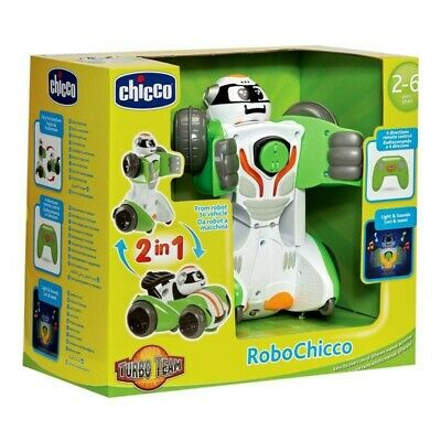 Chicco Robochicco Robot Light & Sounds Remote Control Transformer R/C Car B • 19.95£