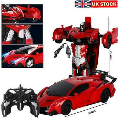 1:18 Transformer RC Robot Car Remote Control 2 IN 1 Kids Boys Toy Gift UK Red  • 13.99£