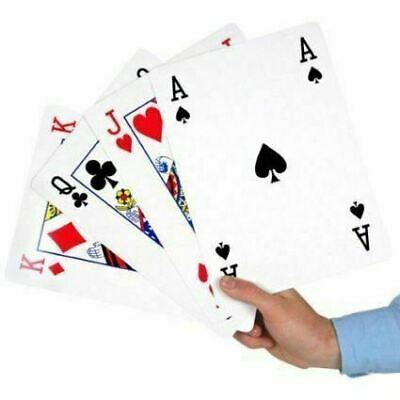 A4 Giant Playing Cards X Large Jumbo Outdoor Family BBQ Game Party Deck Of 52 • 7.20£