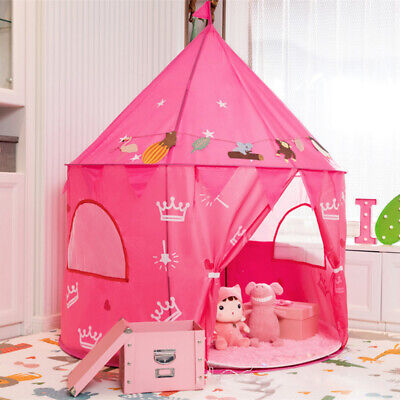 Indoor Outdoor Girls Boys Play Tent Toy Princess Castle Playhouse Birthday Gift • 12.69£