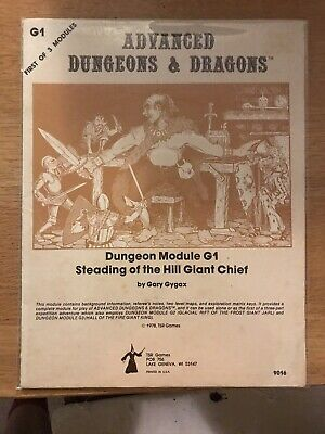 AD&D Module G1 Steading Of The Hill Giant Chief VG • 21£