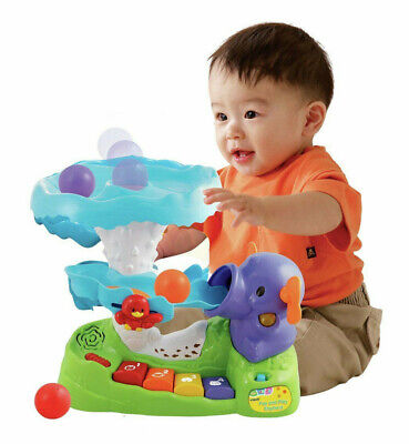 VTech Pop And Play Elephant Toy Sounds Lights Numbers Letters Music Motor Skills • 5.50£