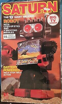 Saturn 13 Inch Giant Walking Robot From Kamco 1981 RARE Vintage Retro Toy • 54.99£