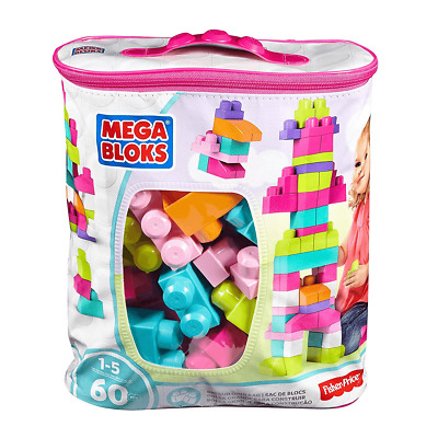 Mega Bloks Pink First Builders Big Building Bag - 60 Pieces • 10£