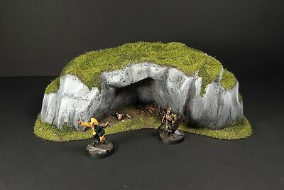 Rocky Hill Cave. 28mm Scale Scenery, Warhammer Fantasy Age Of Sigmar, LoTR, D&D • 15£