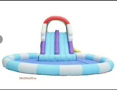 Brand New, Unopened Bouncy Castle With Slide, Climbing Wall And Pool,with Blower • 180£