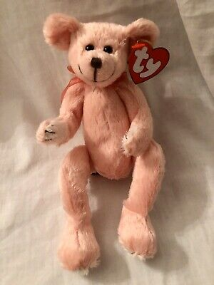 Hayes The Bear Ty Attic Treasures Peach Teddy Articulated Legs New With Tags • 7.99£