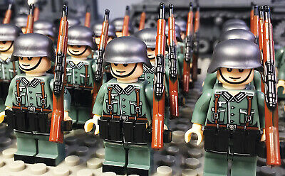 WW2 Custom Minifigure Pad Print German Rifle Weapon Fit Lego UK Seller   • 23.99£