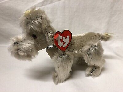 Babette The Dog Ty Attic Treasures New With Tags Articulated Legs Grey Soft Toy • 7.99£