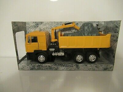 New-ray Construction Series Man Truck With Dump & Crane Scale 1:32 • 10£