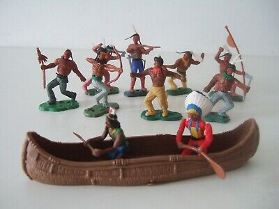 Vintage Britains American Red Indians / Canoe • 5£