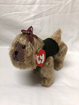 Kaiser The Dog Ty Attic Treasures New With Tags Articulated Legs Brown Soft Toy • 6.99£
