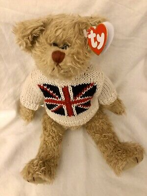 Jack Bear Ty Attic Treasures Union Jumper 13 Inch Jointed Legs New With Tags • 9.99£