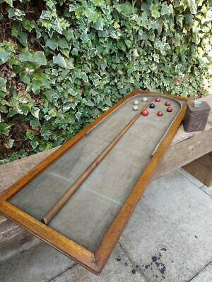 Antique Victorian Bagatelle Ball Game Childs Table Top Game • 59£