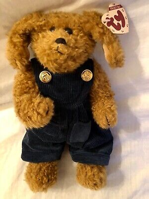Tracey Dog Ty Attic Treasures Dungarees 30cm Jointed Legs New With Tags • 16.99£