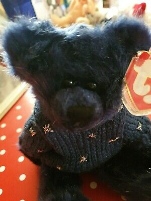 Ty Beanies - Attic Treasures Orion Blue Bear Tag Protected, Retired • 4£